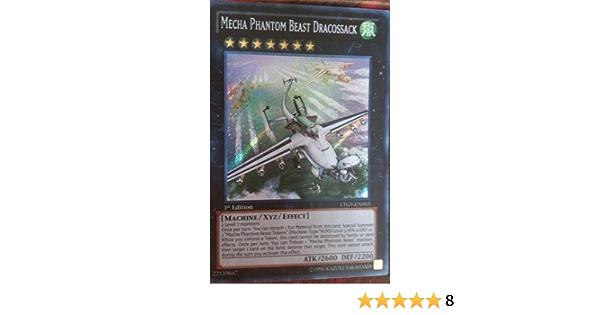 Mecha Phantom Beast Dracossack INCH Super Rare 1st ed Yugioh Cards # 8G8
