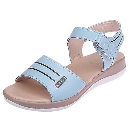 566d2e6f08dce Amazon.com: ❤ Mealeaf ❤ Women's Fashion Wild Sandals Round ...