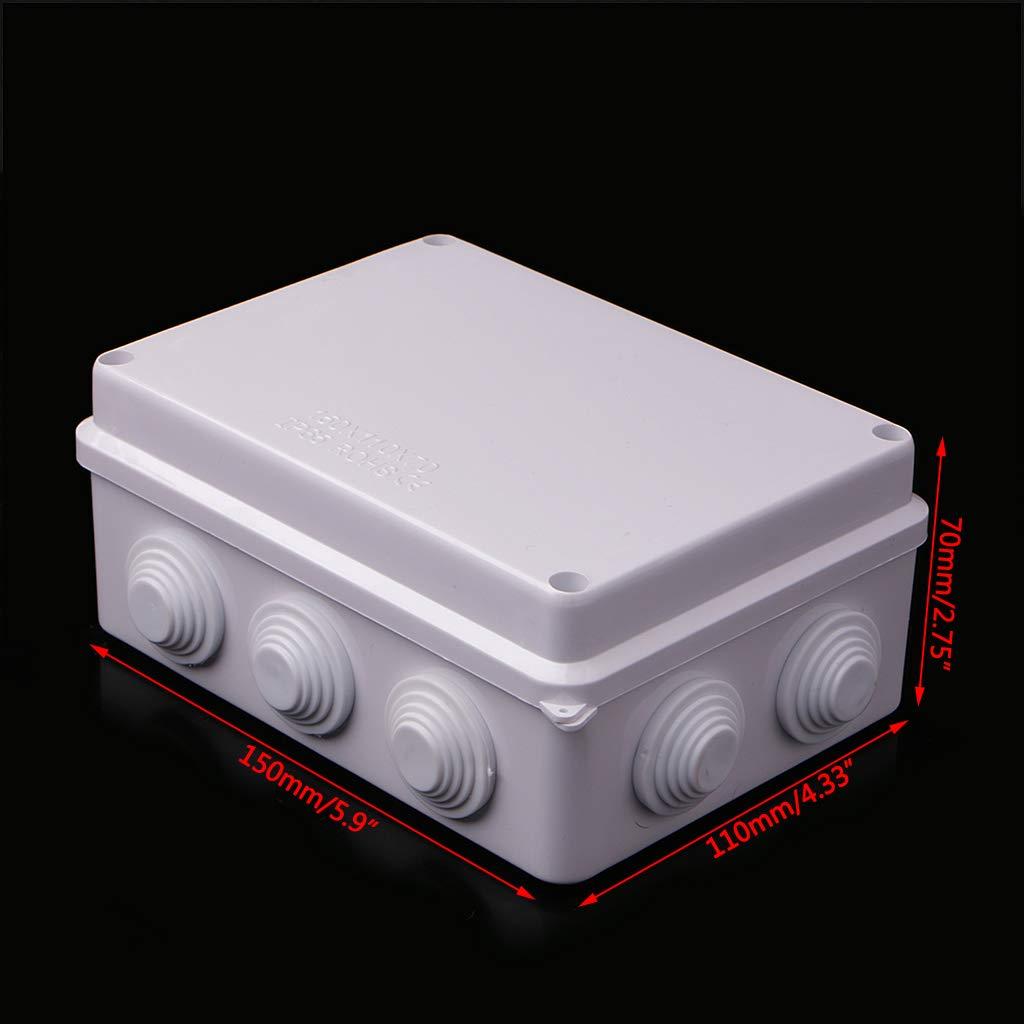 1 Yajiun Bo/îtes de Jonction Etanche,Connexion Etanche,Imperm/éable IP65 ABS 150x110x70MM