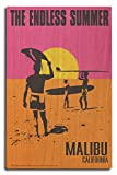 Malibu, California - The Endless Summer - Original Movie Poster (10x15 Wood Wall Sign, Wall Decor Ready to Hang)