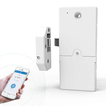 Teepao Bloqueo Inteligente Bluetooth para Puerta, Aplicación sin Taladro, Bloqueo de Cerradura de Perno