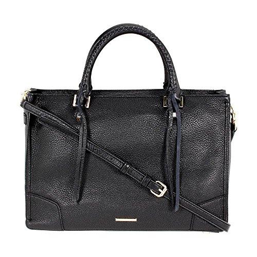Rebecca Minkoff Regan Satchel Tote Shoulder Bag, Black, One Size
