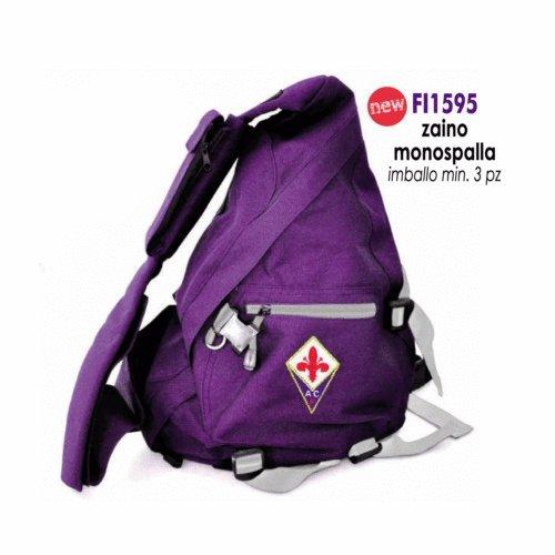 Giemme Rucksack, Lila, mit Taschen, Motiv: Fiorentina, offizielles Fußballprodukt
