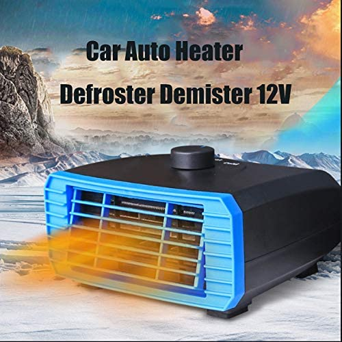 TOTMOX Car Heater Fan defroster Blue 12V120W Portable car Truck defroster and demister Windshield Heater