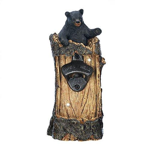 Sunshine Megastore Black Bear Wall Mounted Bottle Opener For Sale