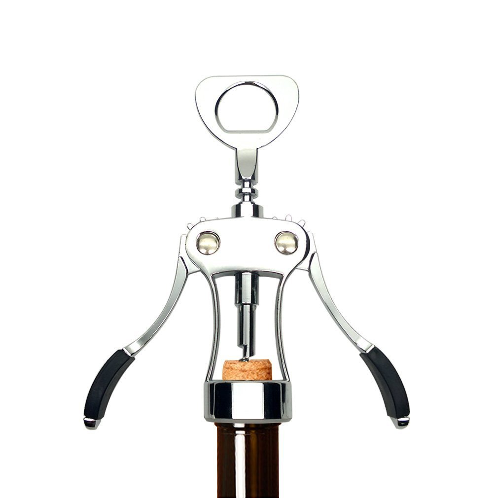 Wine Opener by PELLA - Red Wine Bottle Opener and Wing Corkscrew , Comfortable to Grasp and Effortless to Remove Any Size Cork Quickly and Efficiently