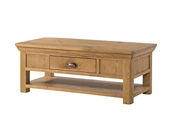 French Oak Large Coffee Table French Rustic Oak Coffee