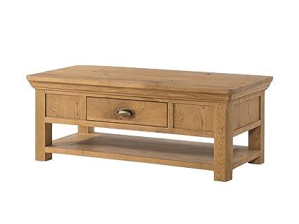 Table Basse Avec Tiroir De Rangement.Grand Table Basse En Chene Francais Francais Rustique En