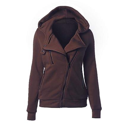 RIBITENS Womens Thermal Long Hoodie Zip Up Jacket Hooded Warm Coat Casual Jackets