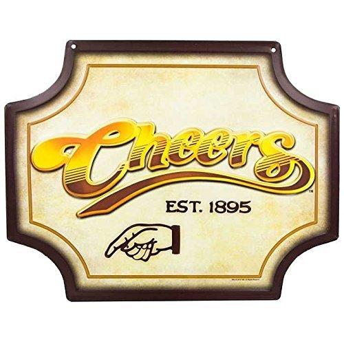 Cheers Embossed Die Cut Tin Sign