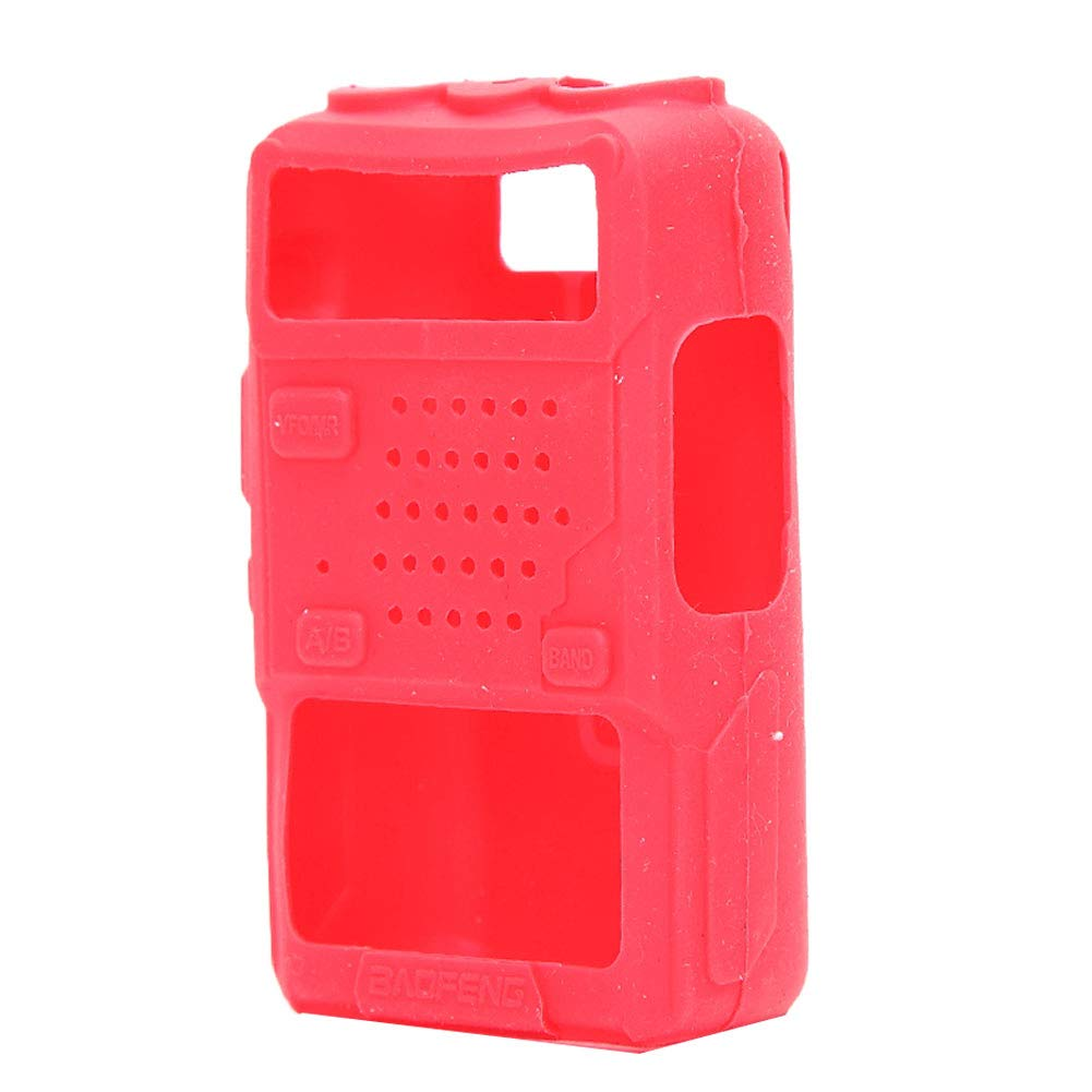 Togethluer Silicone Two Way Radio Walkie Talkie Protective Cover Case,for Baofeng UV-5R Red