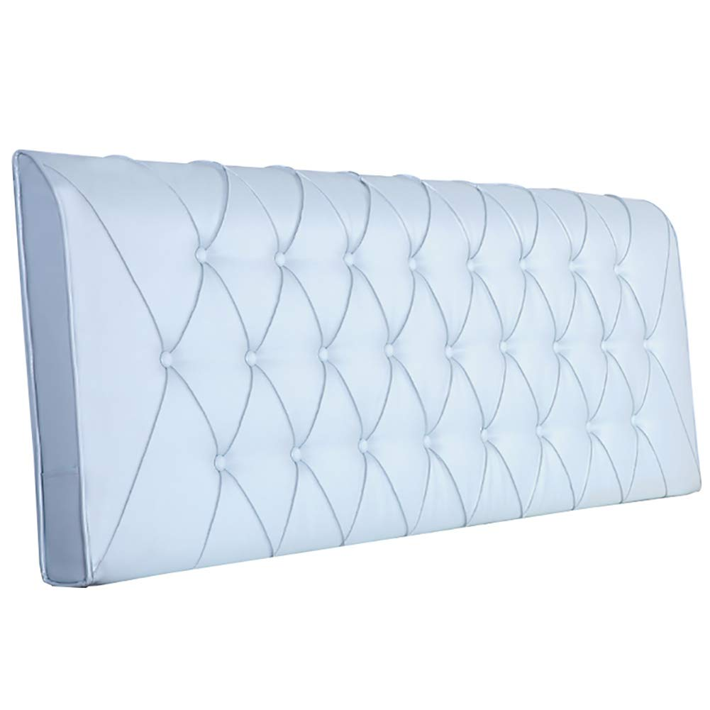 GUOWEI ベッドサイドクッション 布張り ヘッドボード ウェッジ バックレスト サポート装飾 8色 5サイズ 90x10x58cm 90x10x58cm シアン B07MRMJ3XF