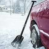 """Cofit 43"""" Extra Long Retractable Snow Shovel Aluminum Alloy Car Outdoor Camping Garden Four-Piece Construction"""