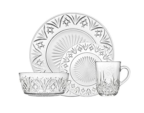 Godinger Dublin Dinnerware Set - Includes Dinner Plates, Dessert Plates, Bowls and Mugs - Set of ()