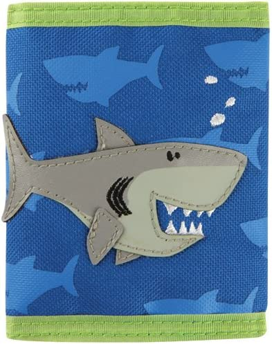 Fashion Space Smiling Shark Womens Zipper Purse Small Canvas Clutch Bag Coin Pouch Wallet