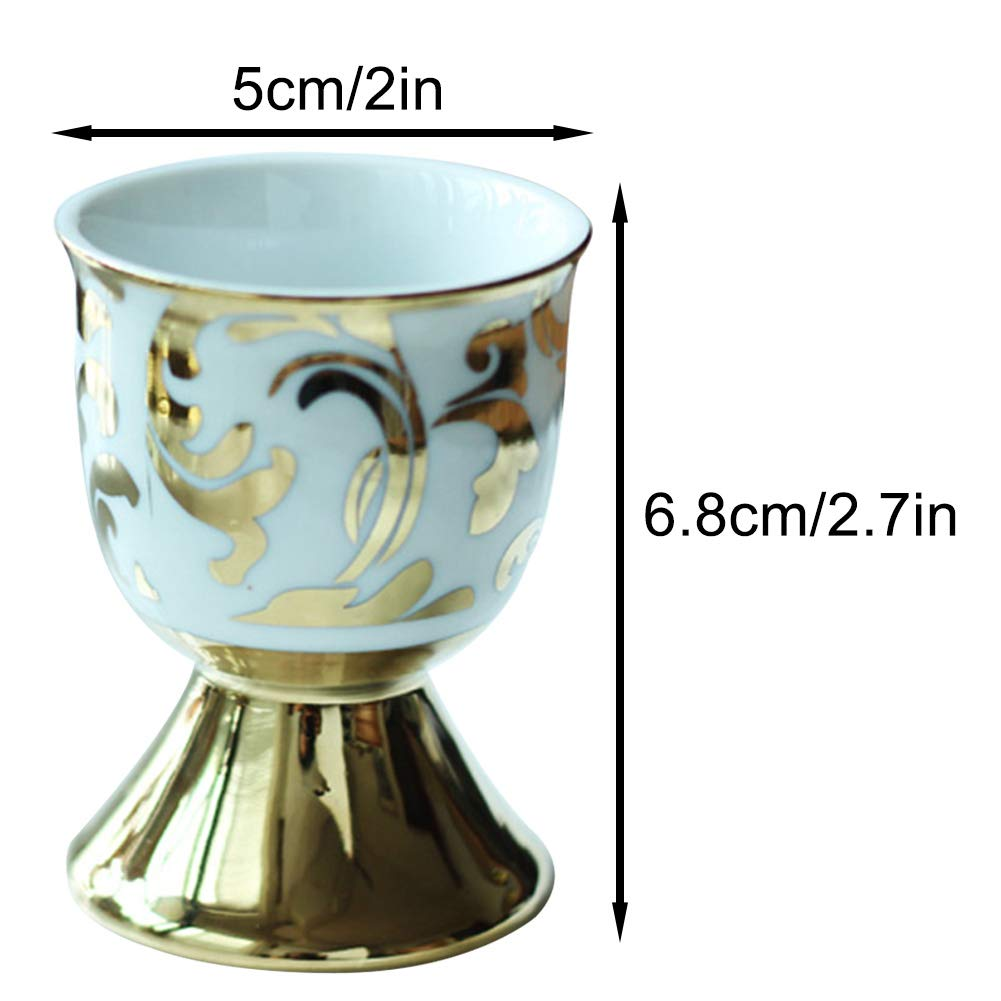 2x2.7inch Ceramic Egg Cup,Exquisite Porcelain Egg Tray,Soft and Hard Boiled Egg Holder Stand,Kitchen Decoration-a 5x6.8cm