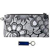 Anna Anuschka Leather Organizer Wallet - Purse Light Bundle - (Patchwork Pewter)