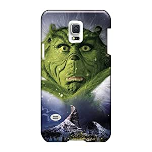 Scratch Protection Hard Phone Covers For Samsung Galaxy S5 Mini With Customized Lifelike The Grinch Pictures Icase88