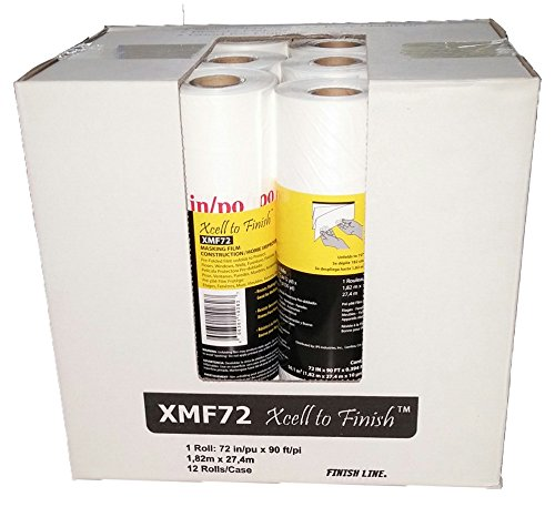 IPS Industries XMF72 Pre-Folded Masking Film Roll, 90' Length x 72'' Width (Case of 12)