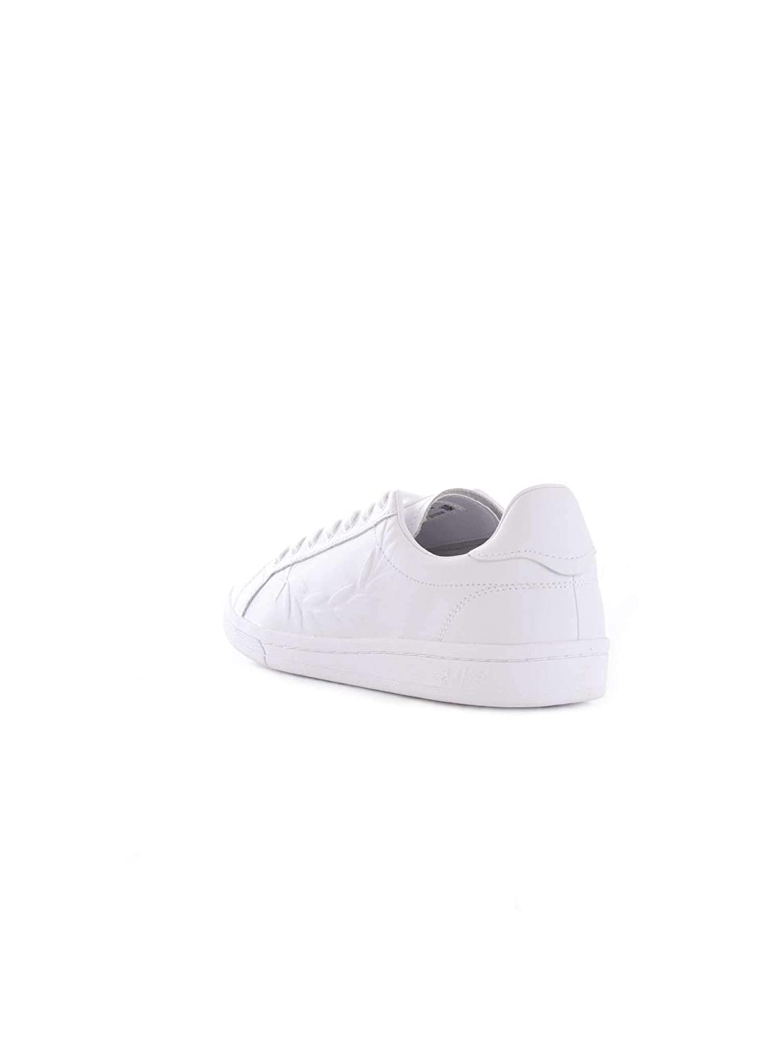 Fred Perry Herren B5150WHITE Weiss Leder Sneakers: