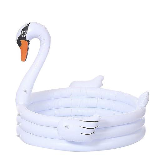 ZJIA - Piscina Hinchable para niños, diseño de Cisne Blanco ...