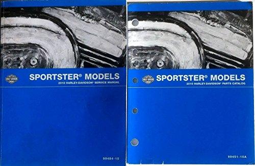 Harley Parts Catalog - 2010 Harley Davidson Sportster Service Repair Manual Set & W Parts Catalog Book