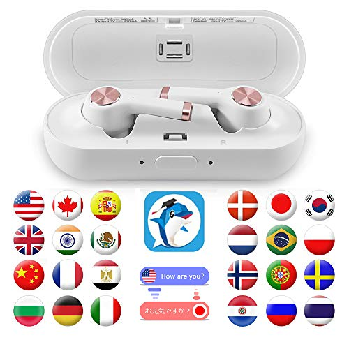 DABAOZA Language Translator Device, iOS Bluetooth Earbuds Voice Translator - Support 20 Languages & 19 Accents, Smart Portable Instant Translator with APP Including Micro USB Charging Case - Black by DABAOZA (Image #9)