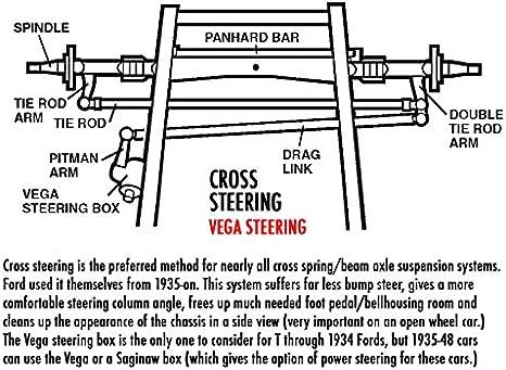 Zinc Vega Steering Box Pitman Arm street hot rat rod
