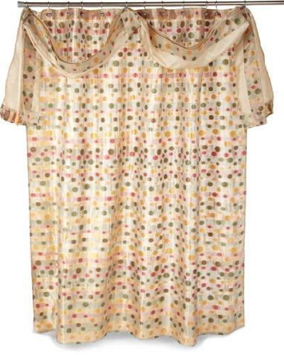 Shower Curtain Valance (Popular Bath Sunset Dots Shower Curtain with Detach Scarf Valance, Gold)