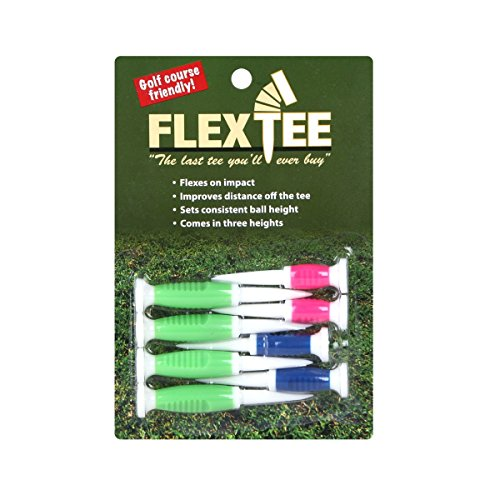 TourGear/Hireko FlexTee Flexible Golf Tees (8 Pack), (product packaging may vary)