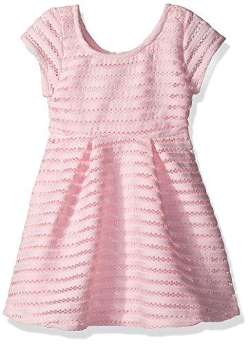 The Children's Place Little Girls' Short Sleeve Casual Dresses, Pink 9970, XS (4)