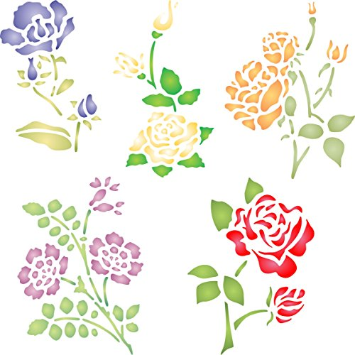 Rose Set Stencil - (Size 5