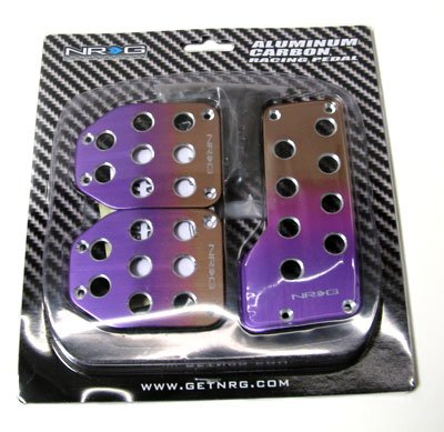 NRG MT Manual Titanium Pruple Racing Aluminum Pedal Set (3 Pcs Set)