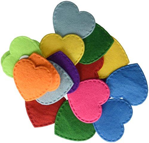 Darice Foamies Felt Heart Assorted Colors Stickers (Heart Foamies)