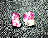 Pair of Natural Bixbite Red Beryl Crystals, Mined in Utah. High Quality Gemstone Rough, Parcel For Wire Wrapping/ Jewelry.