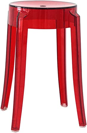 Sgabelli In Plastica Trasparente.Pll Sgabello Di Plastica Trasparente Rosso Sgabello Sedia Da