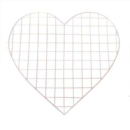 Z@SS Love Heart Metal Mesh Grid Panel Decor Room DIY Photo