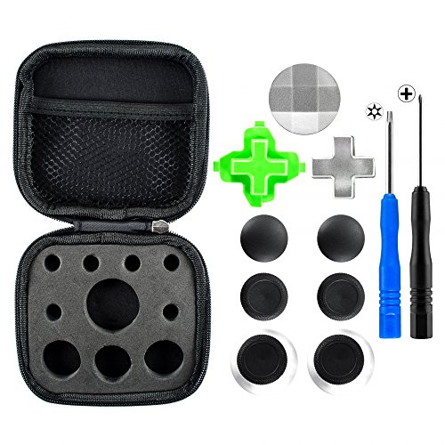 eXtremeRate 3 in 1 Metal Magnetic D-pads Thumbsticks Joysticks Swap T8H Cross Screwdrivers Repair Replacement Parts Kits for Xbox One Xbox One Elite Xbox One S Xbox One X Controller -