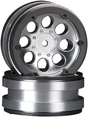 7e29405da6ca Amazon.com  AX8088 8-Hole 1.9 Beadlock Wheel Satin Chrome (2)  Toys ...