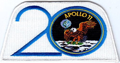 Apollo 11 Mission Patch 20th Anniversary Embroidered NASA 20th Anniversary Patch