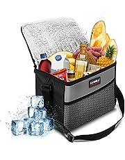 NASUM Kühltasche Picknicktasche Thermotasche Lunch Tasche isolierte Kühlbox Lebensmitteltransport für Büro Arbeit Outdoor Camping Reisen, Eistasche klappbar faltbar