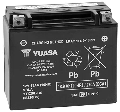 Yuasa Battery Ytx20l Bs Yuasa Battery Yuam320bs New (2003 Harley Davidson Xl1200 Custom Anniversary Edition)