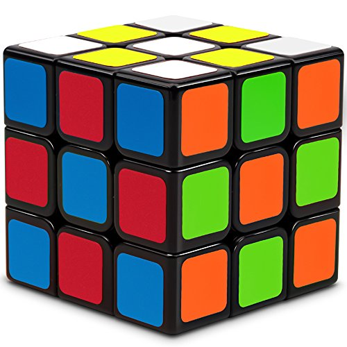 Speed Cube, Suvevic 3x3x3 Sticker Speed Cube Smooth Magic Cube Puzzle (New version) (T1)