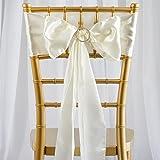 sarvam Fashion Set Of ♥ 50 ♥ Chair Decorative Satin Sashes Bow Designed For Wedding Events Banquet Home Kitchen Decoration (50, White)