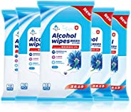 Alcohol Detergent Wipes,(Easy to Carry) Large Wet Wipes(8