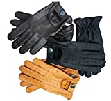 Prime Sports Men's Classic Genuine Soft Unlined Leather Driving Gloves D-7012