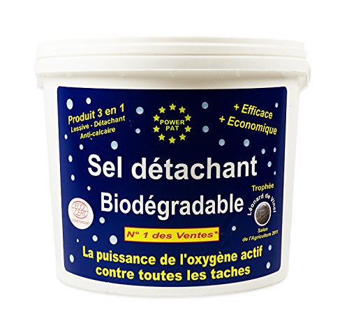Powerpat Sal quitamanchas Biodegradable 5 kg + 1 kg, Color Negro: Amazon.es: Hogar