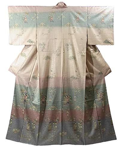 付き添い人またはどちらか付添人リサイクル 着物 訪問着 高松塚古墳の壁画 裄61cm 身丈165cm 正絹 袷