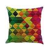 VICCKI Geometry Painting Linen Cushion Cover Throw Pillow Case Sofa Home Decor D