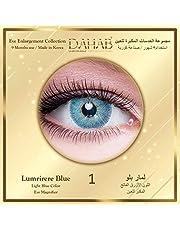 عدسات ذهب لمار بلو عدسات لاصقة تجميلية ملونة للجنسين استخدام 9 شهور - اللون الأزرق الفاتح المكبر للعين